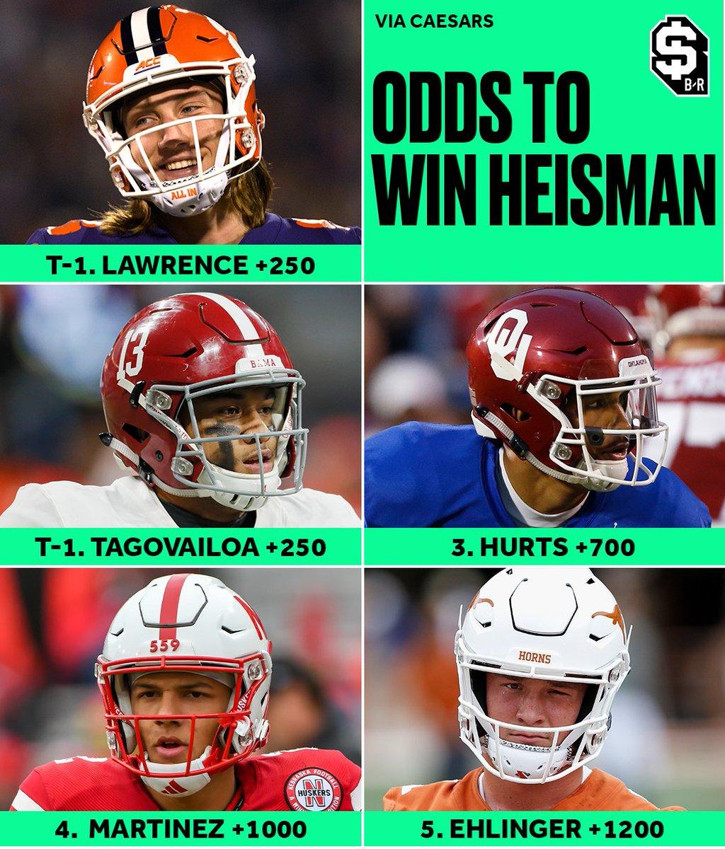 New 2019 Heisman Trophy Odds Name 5 Favorites