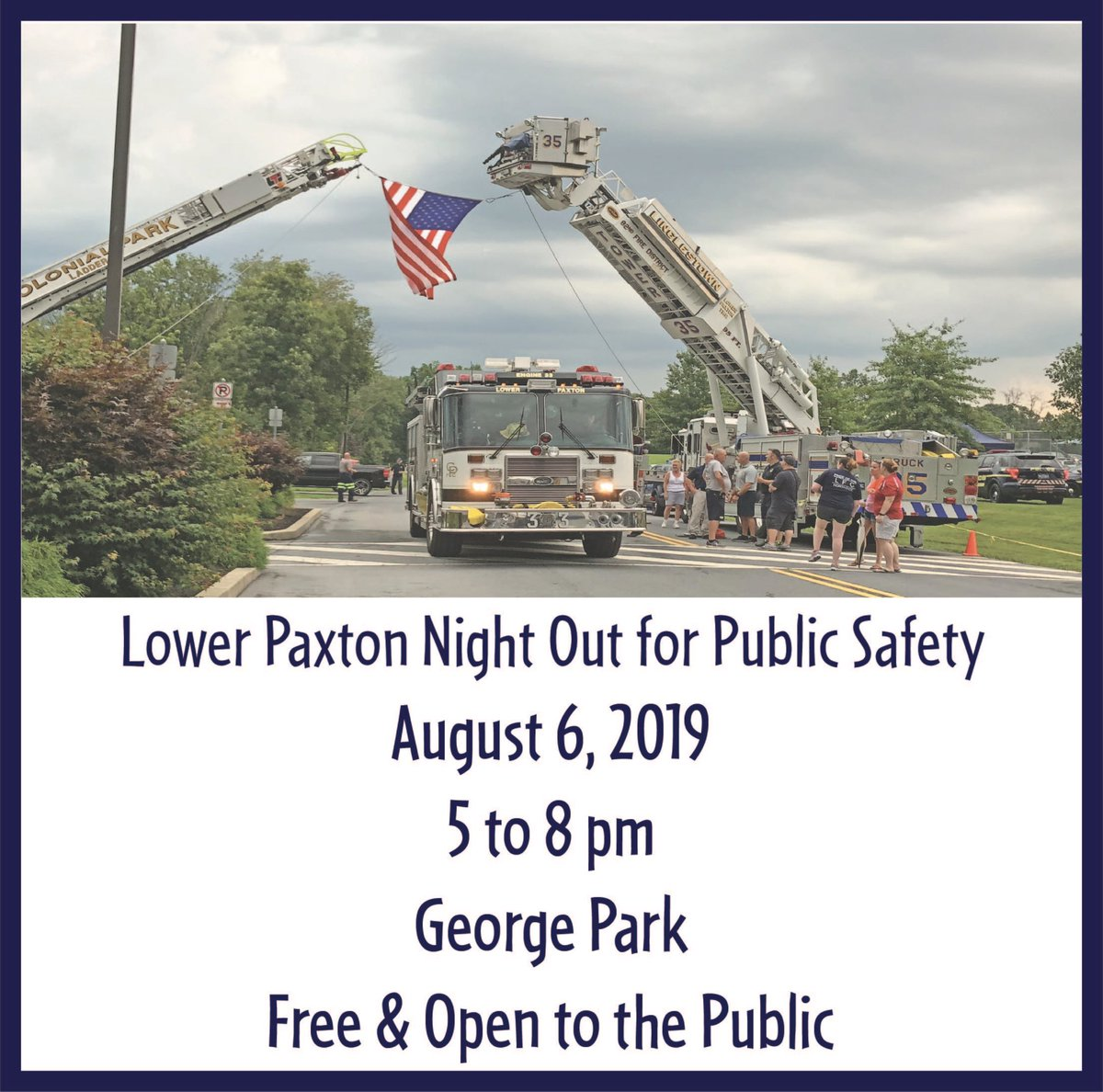 Hope to see ya in a few weeks for our Night Out for Public Safety!! #lowerpaxtontwp #ourcommunity