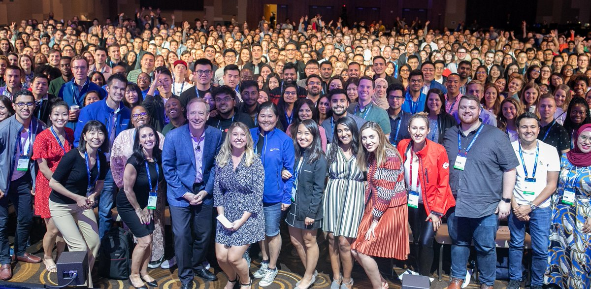 I always enjoy meeting with our newest employees, especially the #MicrosoftAspire university hires. I love hearing these future leaders' fresh perspectives, innovative ideas, and enthusiasm for Microsoft.