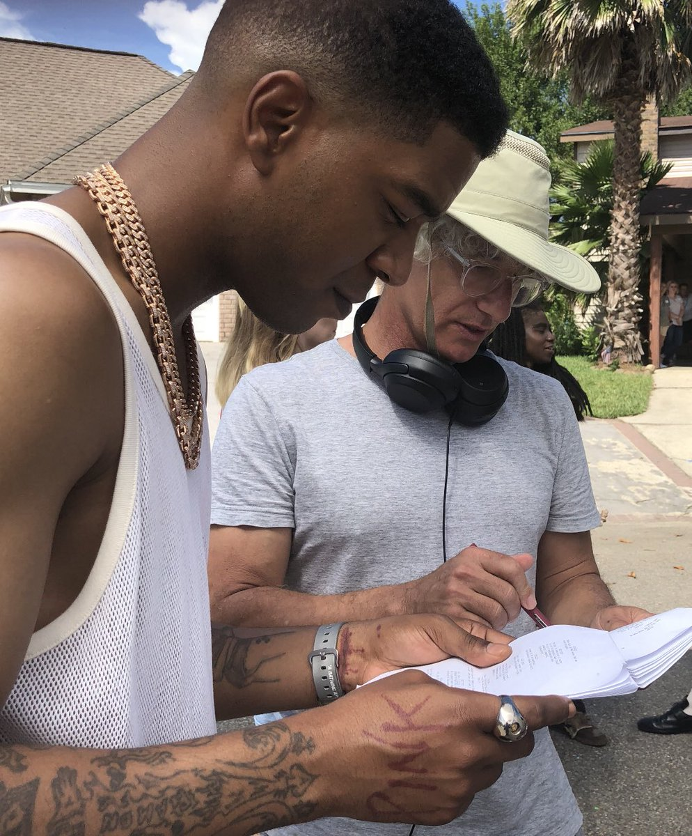 Working with the great @KidCudi on his first day on @BillandTed3. Such a joy.