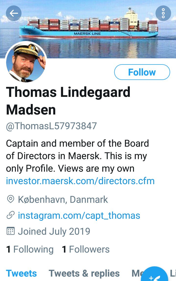 Oh, another #fake profile PRETENDING to be Captain Thomas