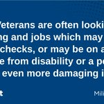 Image for the Tweet beginning: A5b: Veterans are often looking