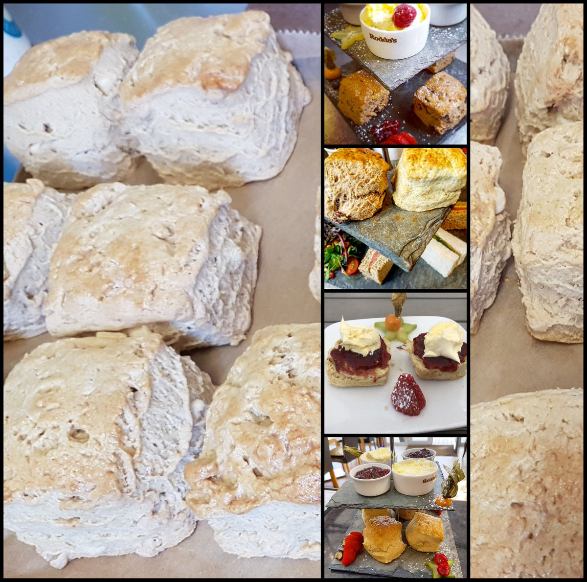 Our #squarescones are now famous , it was our aim to show that we were serving 100%homemade by using an untraditional shape #creamteahour<br>http://pic.twitter.com/wUO8qXeNeT