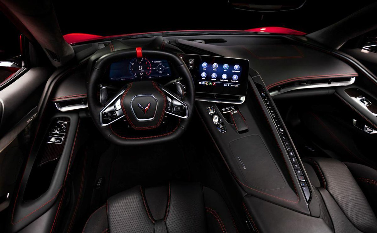 This is the interior of the C8 Chevy Corvette - Autoblog
