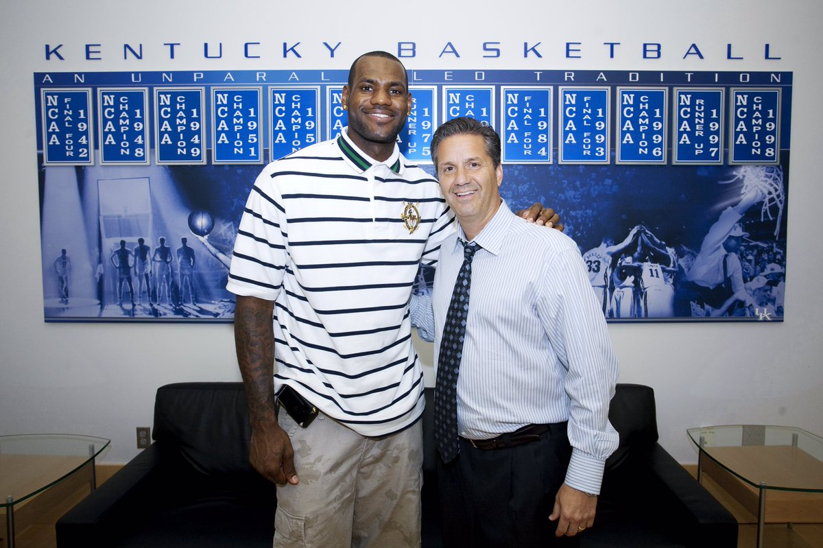 Crazy, it was 10 years ago today @KingJames came by the Craft Center. @antdavis2 was still in high school! Now they're teammates!  #TBT <br>http://pic.twitter.com/luOxH4wuGp