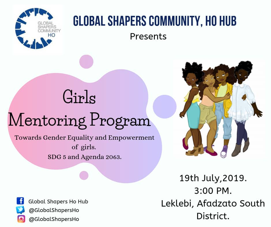 """""""When we support the growth & empowerment of women and girls, we raise the quality of life for everyone""""! Do Join @GlobalShapers tomorrow as we mentor young girls in our community #SDGs Goal 5 #Agenda2063 #futureofwork #WeSeeEqual @ProcterGamble"""