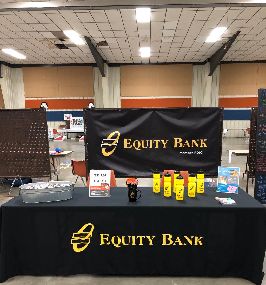 All set up for the Children's Health Fair in Guymon, OK. tonight from 4-7 p.m. Stop by and see us!