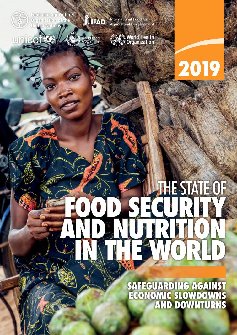 """We agree with @IFPRI – """"If we want to achieve all the SDGs by 2030, we must end hunger first."""" Check out @FAO's 2019 report on how we can reach #ZeroHunger: http://ow.ly/lXJt50v5nr9 #SOFI2019"""