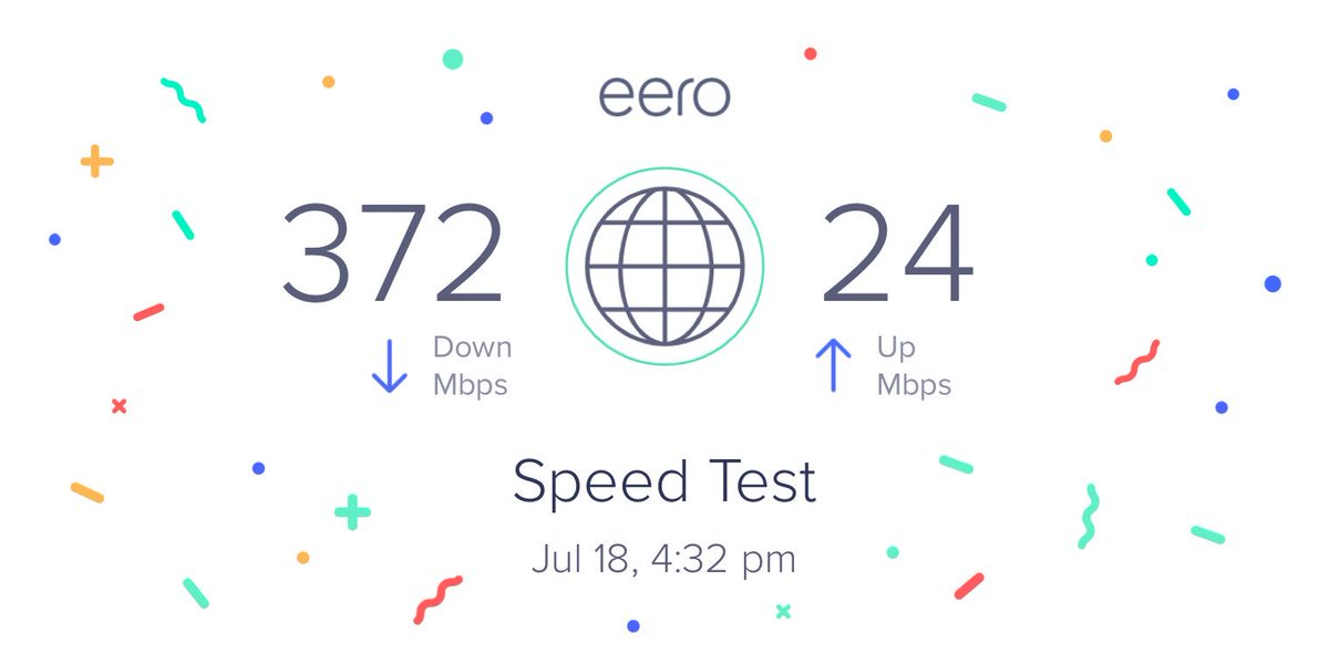 My WiFi speeds are looking great with my @geteero system! http://get.ee.ro/speed #WIFI
