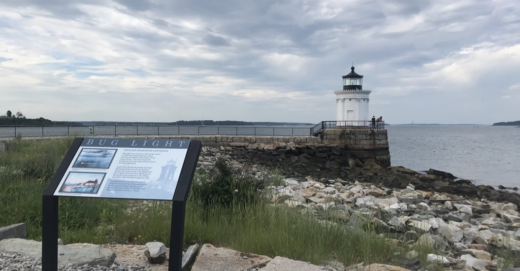 "We thought it would be hilarious to go visit a Maine lighthouse that we had been told was named ""Bud Light"". As it turns out, it's ""Bug Light"". Still pretty. Just not as funny. #lighthouse #maine #rvlife"