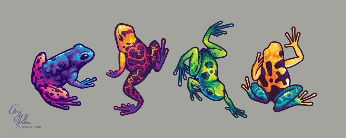 Finished drawing the set of toxic frogs.  #illustration #vectorart <br>http://pic.twitter.com/Jsu2X2kTuj