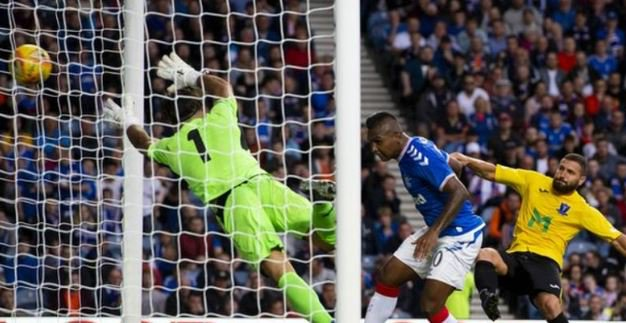 Rangers set up a #EuropaLeague second qualifying round date with 2017 conquerors Progres Niederkorn by cruising past Gibraltans St Joseph's.More ➡https://bbc.in/2JD4cDK #bbcfootball #UEL