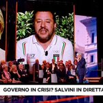 Image for the Tweet beginning: #SALVINI A #FUORIDALCORO: NON STO