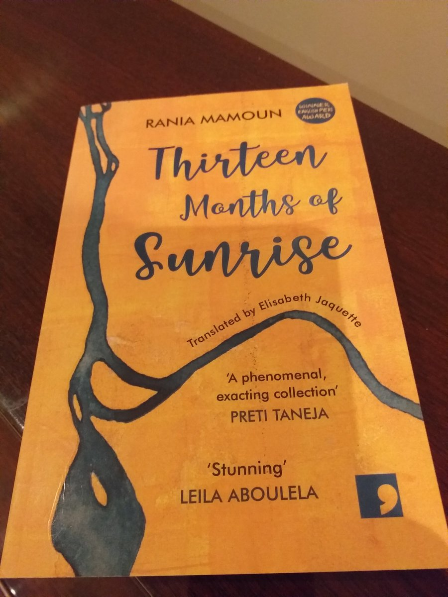 Thirteen Months of Sunrise by Rania Mamoun, tr Elisabeth Jaquette, pub @commapress This first collection in English by a female Sudanese writer is a masterclass in sensitive narration. The stories are lively but compassionate. Title comes from the Ethiopian calender of 13 months.