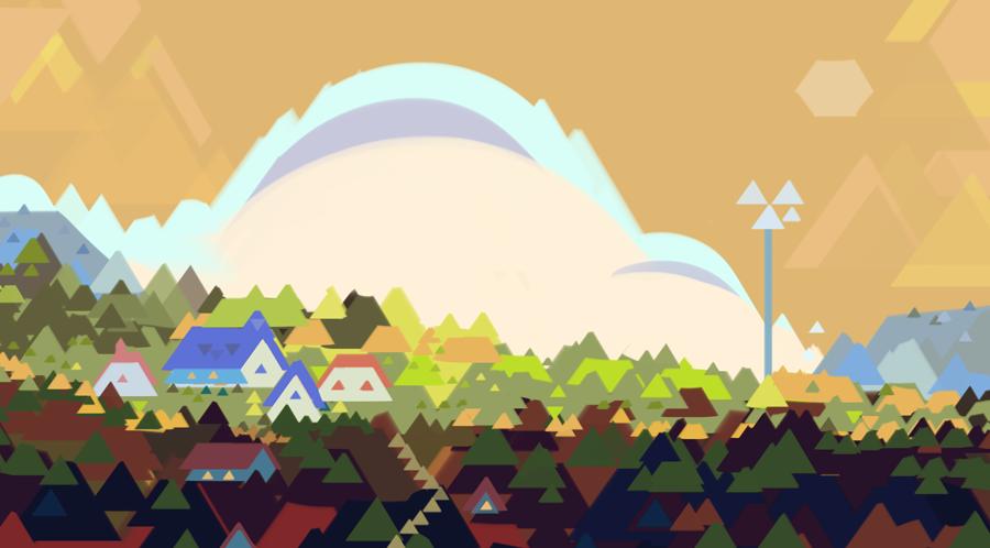 triangle brush doodle