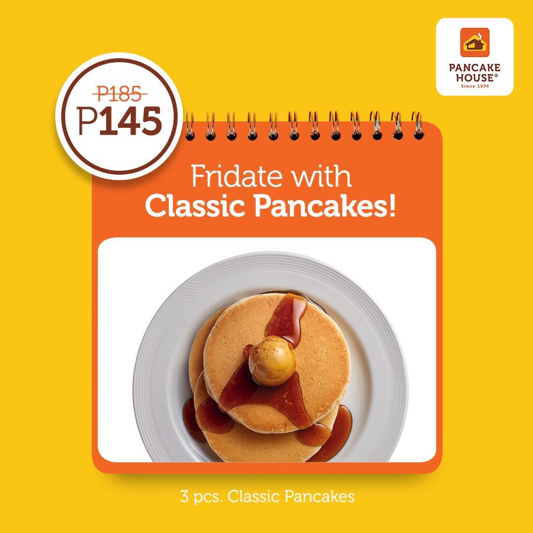 Yay for Friday! Only P145 for our fluffy golden pancakes, served with whipped butter and syrup. Dig in now! #ChooseToFeelGood with our 145 Weekday Classics. https://t.co/pTFZKVmJmw