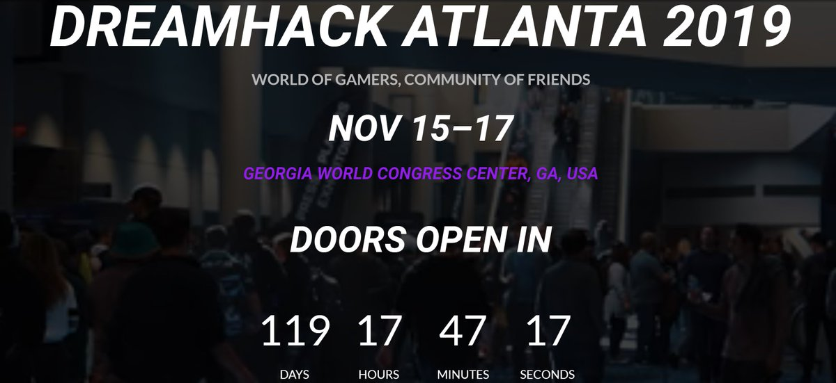 My 2nd article of the day in re: @DreamHack & @ATT new #partnership announced today right in time b4 #DreamHackAtlanta in #November w/ more events throughout the year! #DreamHack #ATT @TeamLiquid https://twitter.com/HiTechchic/status/1151964260513275906 …
