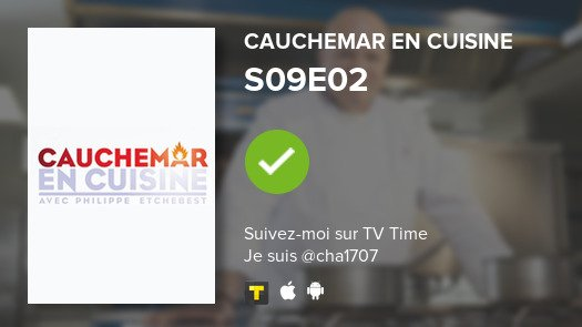 S09E02 of Cauchemar en cui...! #cauchemarencuisine  #tvtime  https:// tvtime.com/r/16HKW    <br>http://pic.twitter.com/3LigSNGjNf