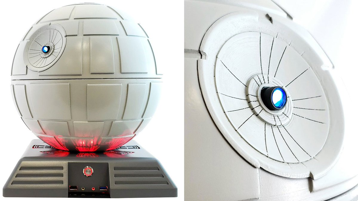 #Geek 🤓 Awesome of the Day: #StarWars #DeathStar PC Case With Superlaser Video #Projector via @Gizmodo #SamaGeek #SamaCuriosities 👀