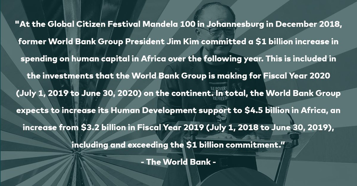 On #MandelaDay we celebrate the leadership of the @WorldBank and its former president Jim Kim at #Mandela100 in December 2018.
