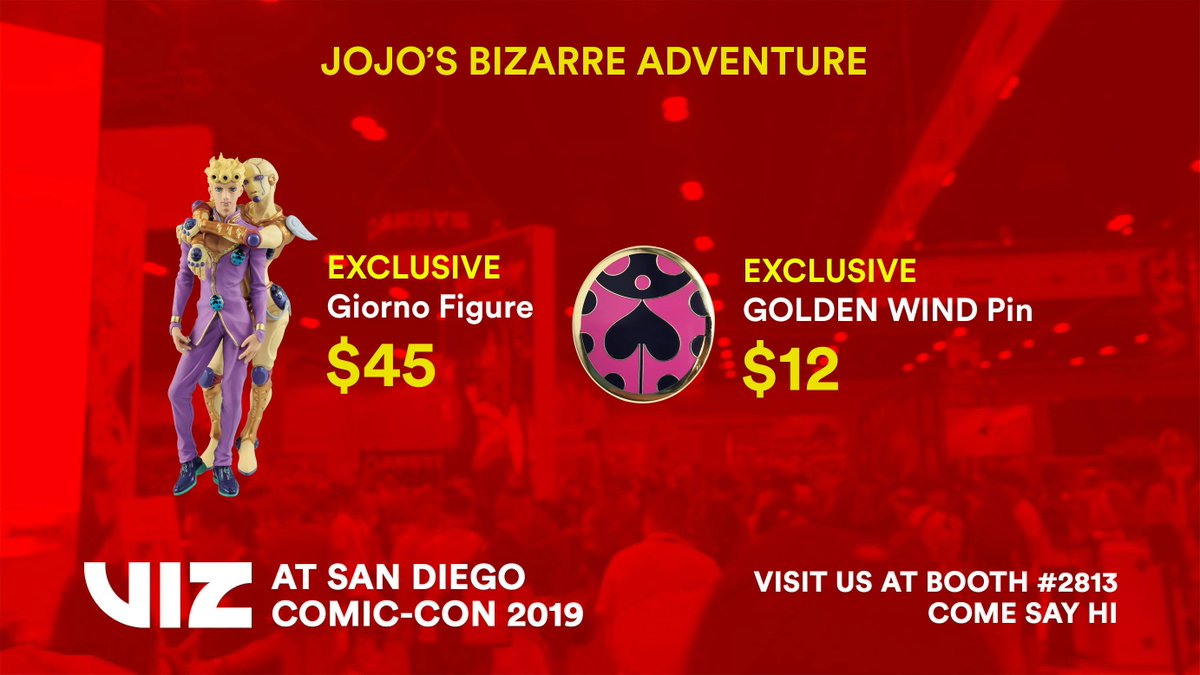 We've got mafioso must-haves at the #SDCC2019 VIZ Booth #2813! Limited quantities, restocking daily!