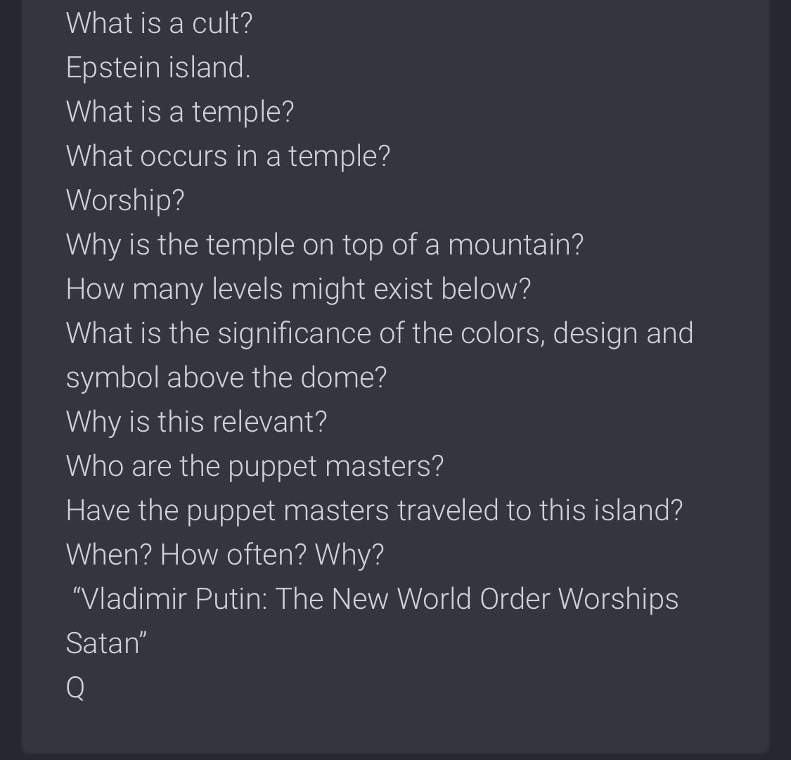QAnon July 18 2019 - Change Is Coming - Epstein Temple