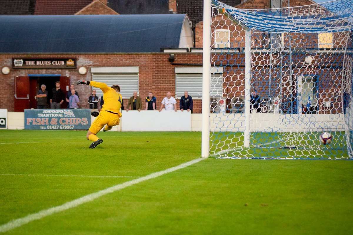 Harry Middleton's ferocious shot beats the Grimsby keeper in a 2-0 Lincolnshire Cup win for @GainsTrinityFC tonight.<br>http://pic.twitter.com/uWz9j9I4yq