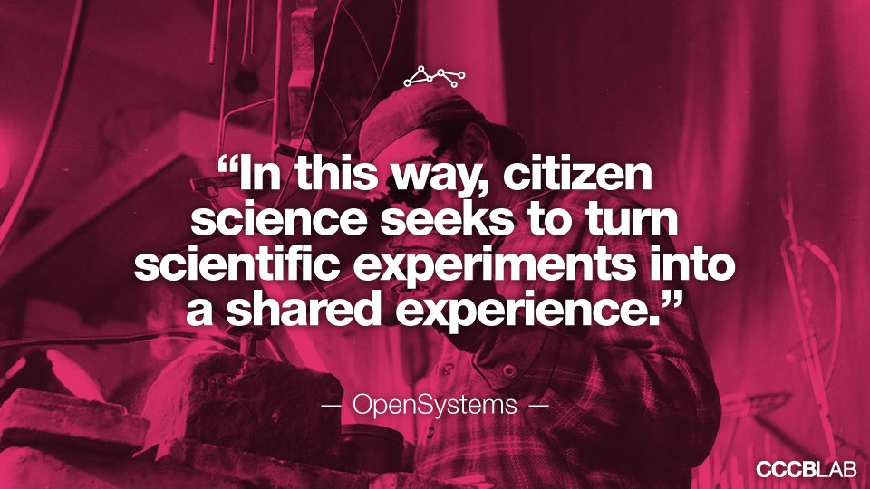 Science and art may find common ground in the drive to conduct serious scientific research through shared experiences: http://lab.cccb.org/en/citizen-science-and-the-arts/ …