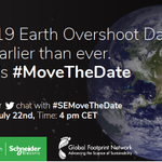 Image for the Tweet beginning: Earth Overshoot Day is drawing