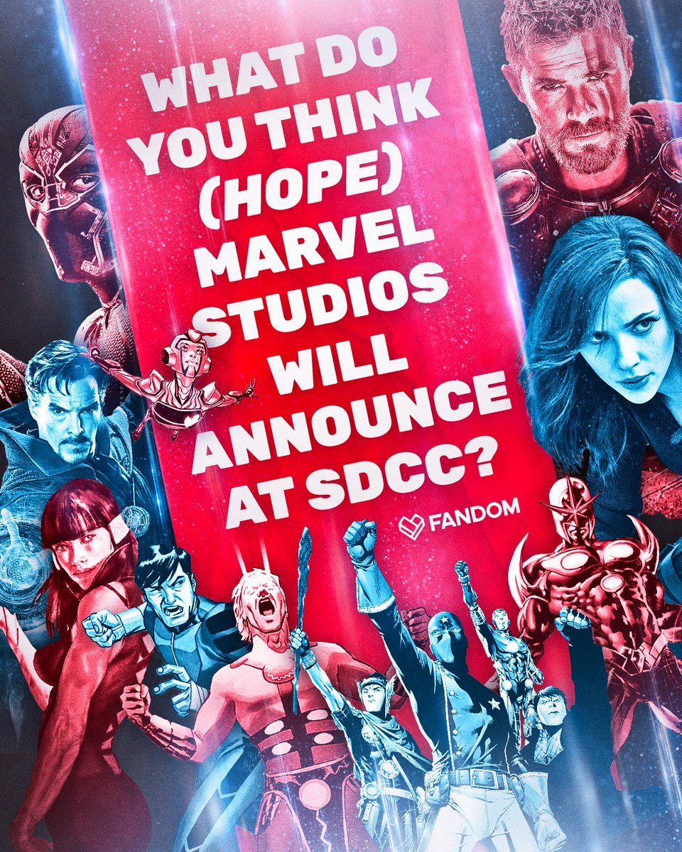Fingers crossed Marvel Studios makes some big announcements on Saturday 🤞 #SDCC