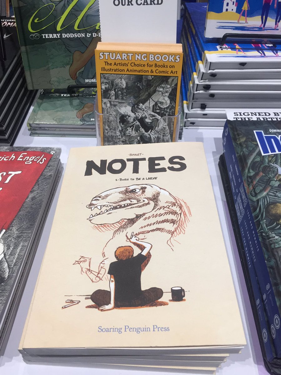 Nice to see @Bouletcorp's #Notes on sale at @stuartngbooks' stand at @Comic_Con #SDCC19 #SDCC2019