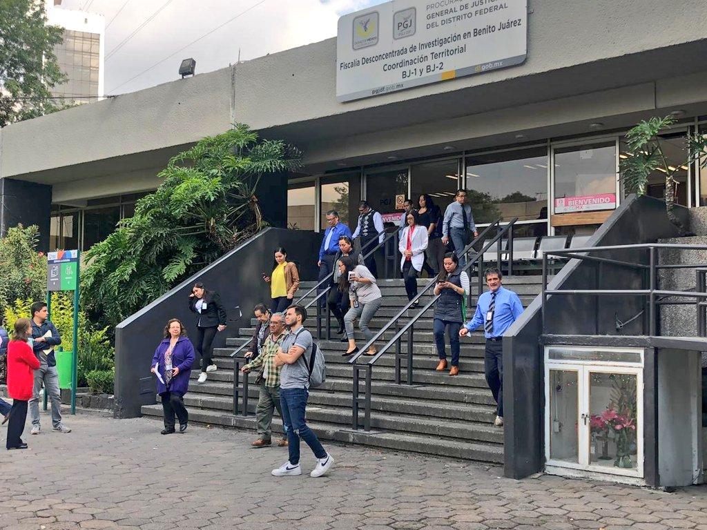 Esta tarde se llevó a cabo el cierre de simulacros, con personal de CEPDI, Fiscalía Benito Juárez y Unidad de Mediación #ProtecciónCivil