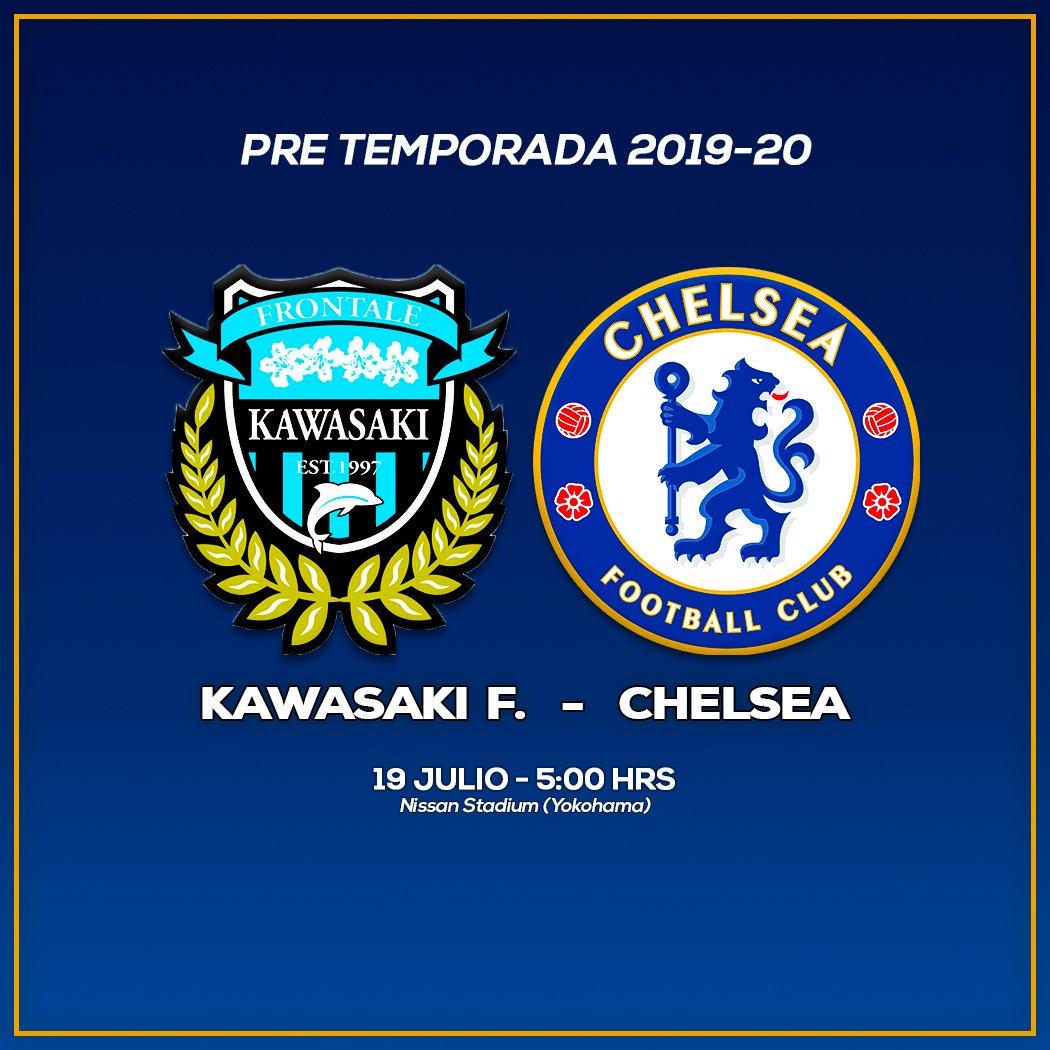 ⚽ #KawasakiFrontale #Chelsea 🏆 #AmistosoInternacional 📆 Viernes 🕡 5:00 hrs 📺 No va x TV ❌