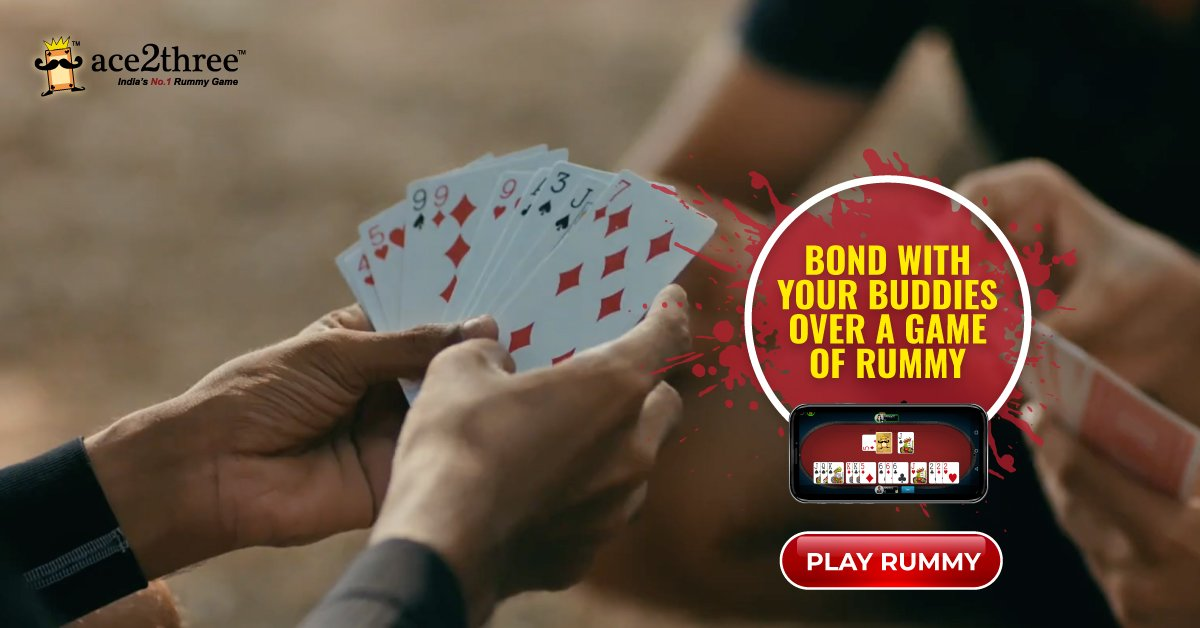 Whatever rummy you play, re-live the same joy online at Ace2three - India's No. 1 Rummy Game. 🙂🙃 Play Now => bit.ly/acerummyonline #ace2three #rummy #FridayFeeling