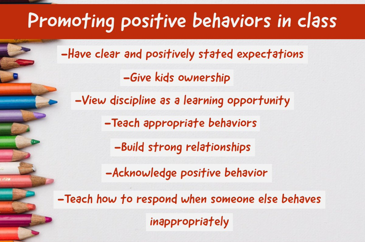 What strategies do you use to promote positive behavior in your classroom? #edchat