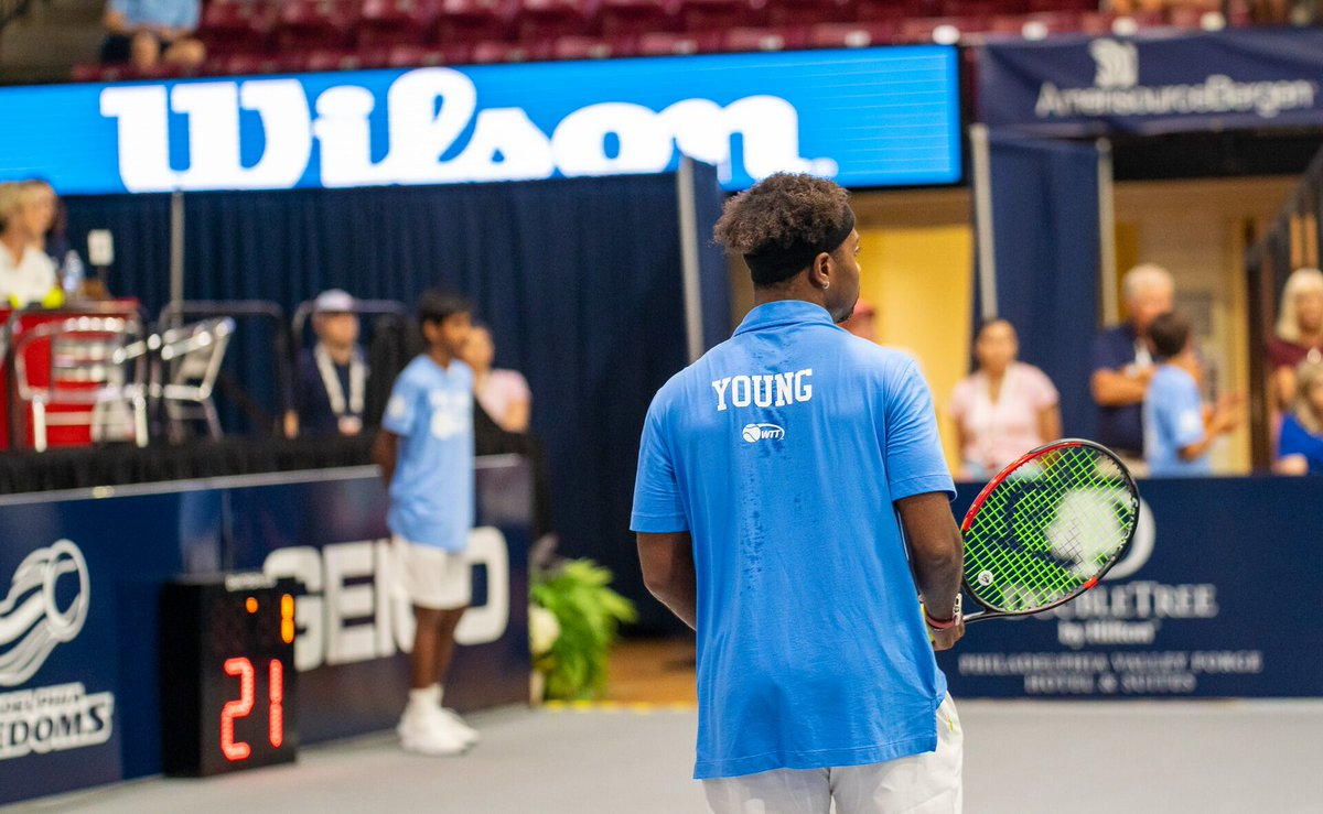 Let's go, DY! Young extends our lead to 15-9 after beating Feliciano Lopez 5-3 in Men's Singles! Martin and Townsend up next in Mixed Doubles.  #ServingFreedom   @WorldTeamTennis<br>http://pic.twitter.com/O4xH3F616l