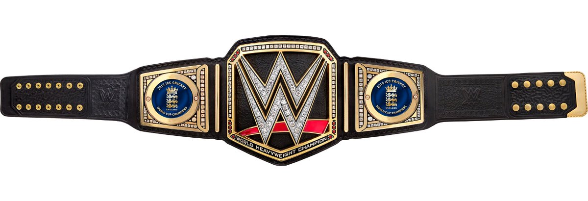 An incredible tournament, an awe-inspiring final, and a team of worthy champions. Congratulations to @EnglandCricket for winning the ICC Men's @CricketWorldCup 2019! This custom @WWE Championship is YOURS! @WWEUK
