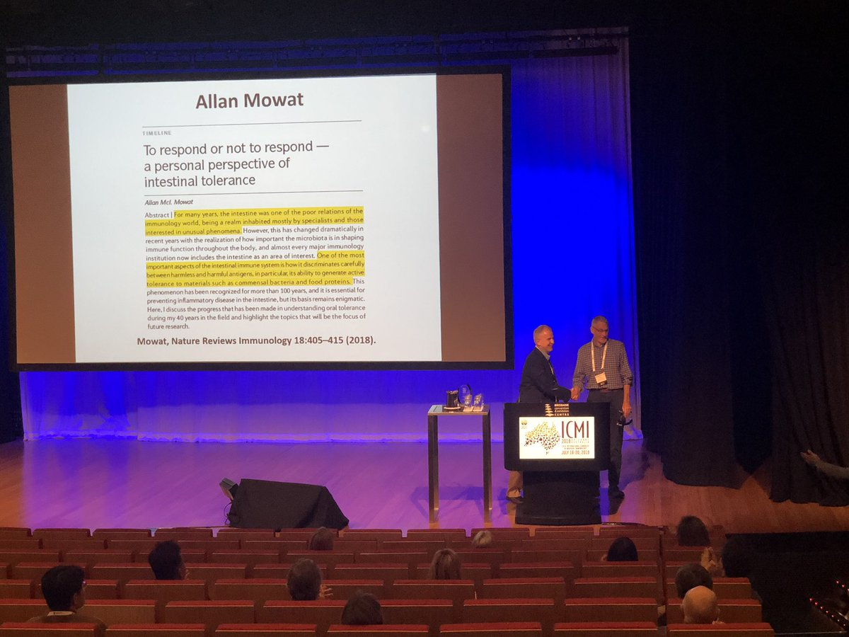 Lifetime achievement award for @mowat_allan at #icmi2019 @socmucimm well deserved! Great scientist, mentor and friend! <br>http://pic.twitter.com/SlZTy4JF65