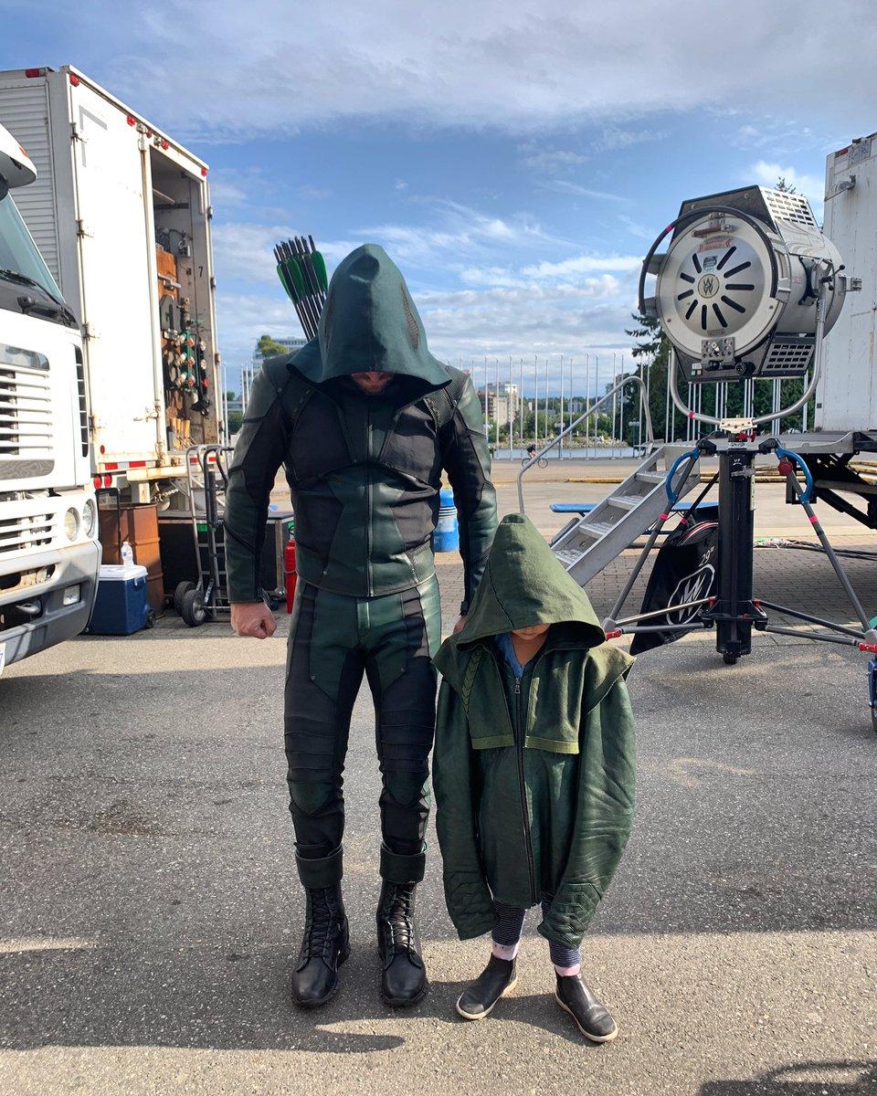 Season 8 suit on the left. Season 1 suit on the right.
