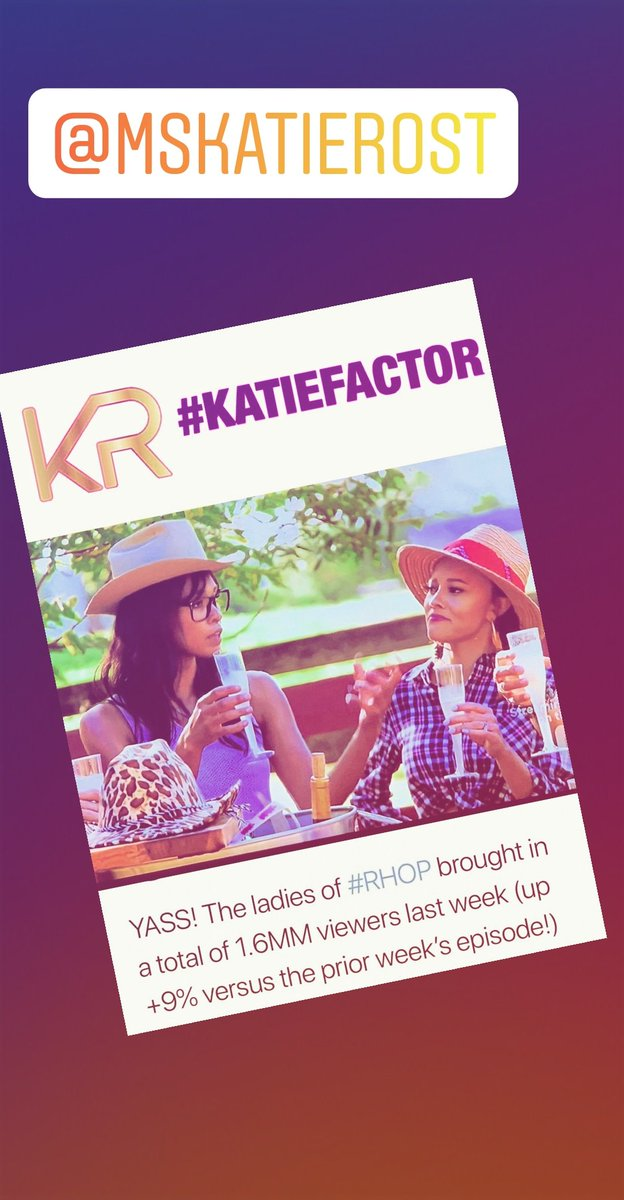 This is amazing, my hoe down last week at Sunny Hill Farm brought #RHOP ratings up. No surprise to me. Welcome to The Vortex.... #katierost #TheKatieFactor #katiefactor #ratingsgold