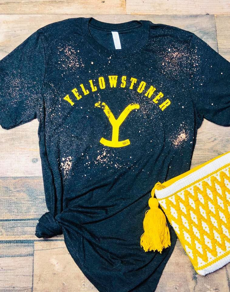 Yellowstoner Bleached Tee & Distressed Tank #yellowstone #duttons<br>http://pic.twitter.com/HIdhwsR1iv