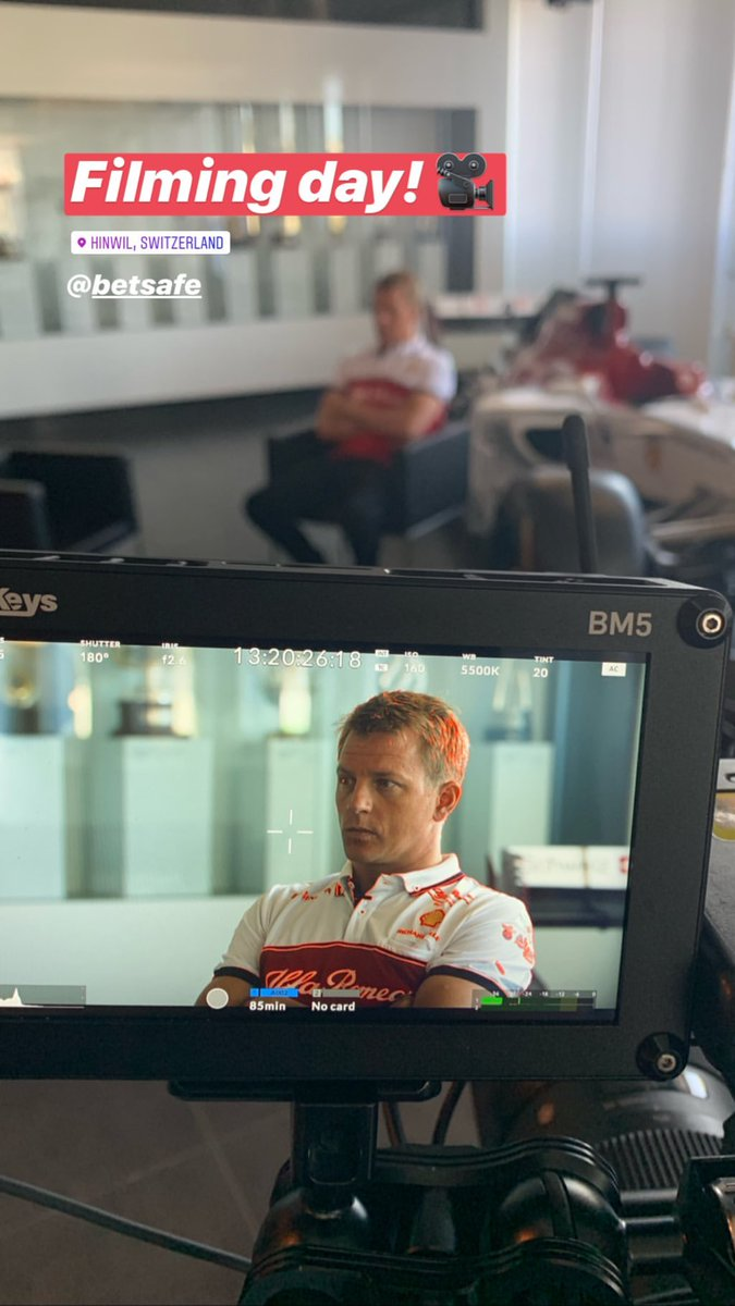Filming Day with @Betsafe #Kimi7 #AG99