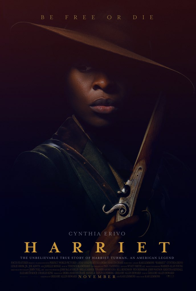 Coming in November...The Harriet Tubman story will be told: Harriet (featuring @CynthiaEriVo)
