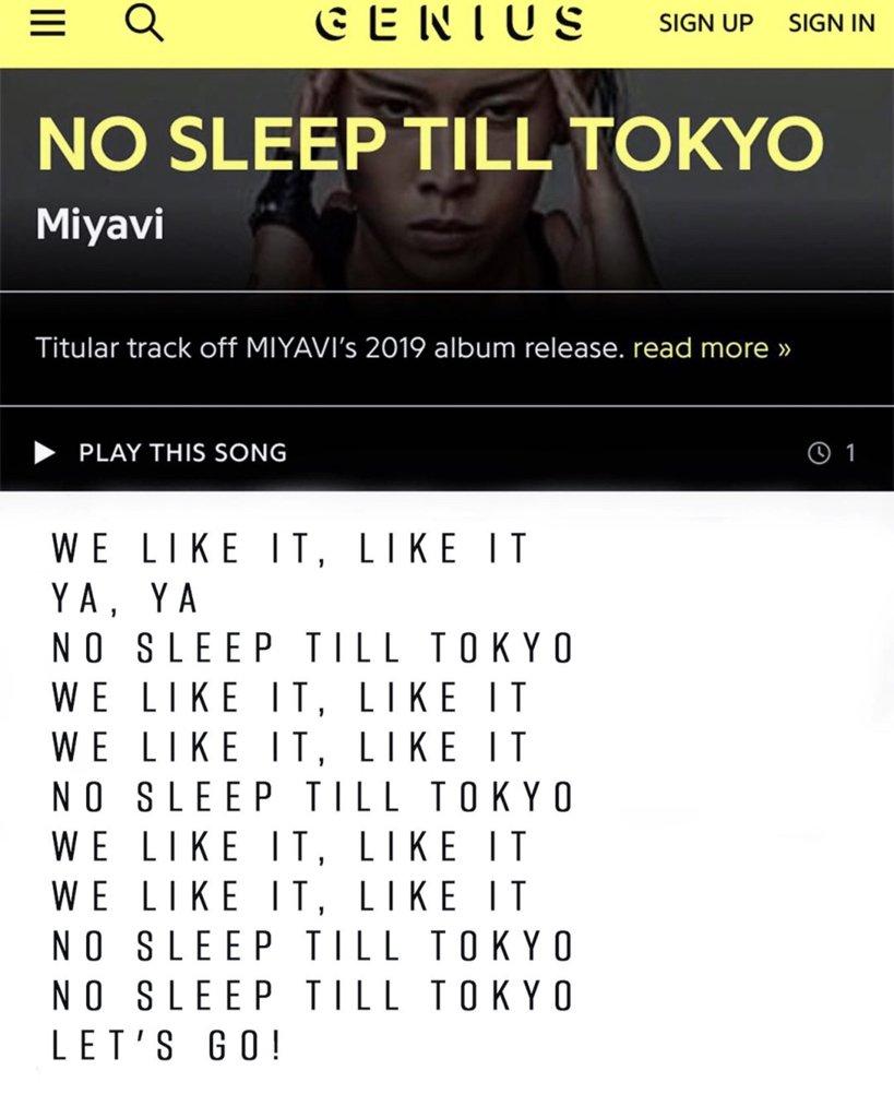 NO SLEEP TILL TOKYOに関する画像11