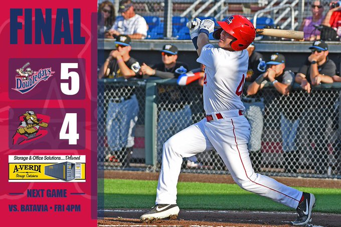 Doubledays survive 9th inning rally to top Muckdogs, 5-4