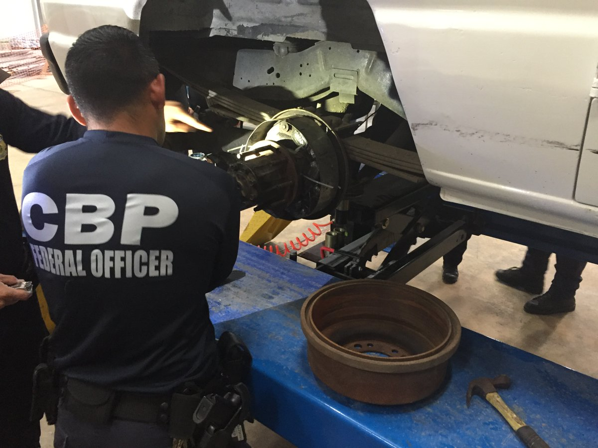 Following a K9 alert, CBP officers in San Juan, PR, seized 6lbs of heroin concealed inside the brake drums of a van arriving by ferry from the Dominican Republic. Details via @CBPCaribbean ➡️ http://bit.ly/2XO8Uri