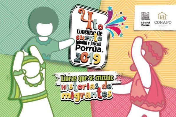 """Cuarta Edición del Concurso de Cuento Infantil y Juvenil 2019, """"Lineas que se cruzan: Historias de migrantes"""". @libreriaporrua Checa toda la información aquí http://bit.ly/2KhbApr"""