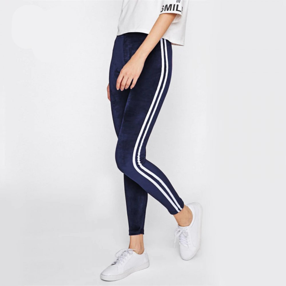 t #shoes #instagood Side Striped Casual Leggings