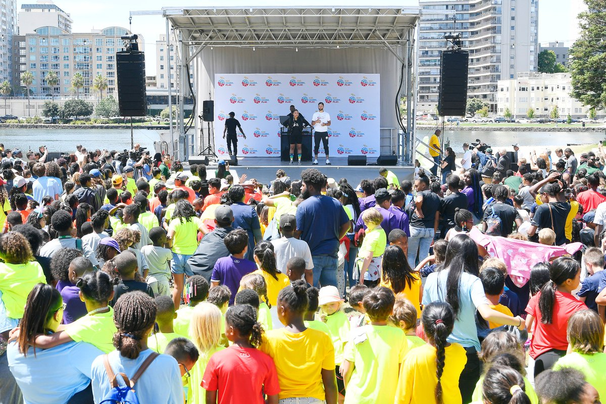 Introducing @eatlearnplay! Aiming to develop the whole child through nutrition, education, and active lifestyles. Today we started w/ 966 Oakland kids. Tomorrow the work continues. Thank you to everyone on our team & all our partners that helped make this a reality! #eatlearnplay
