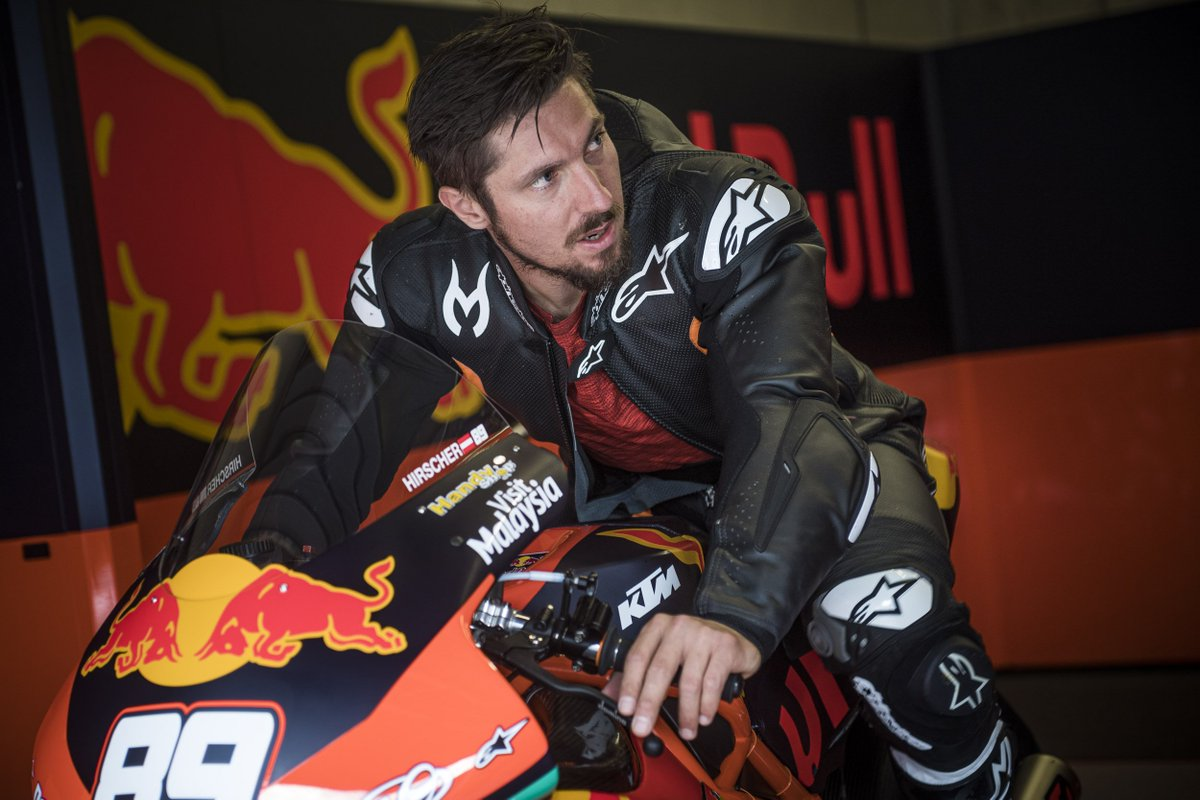 """""""Others have the desire to sit in a Formula 1 car but, for me, that was definitely MotoGP."""" Cool to see 8 times FIS #ski world champ Marcel Hirscher taking the #5 #motogp #ktm RC16 of @JohannZarco1  for some laps at #spielberg"""